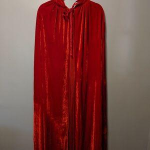 Red velvet cape Halloween